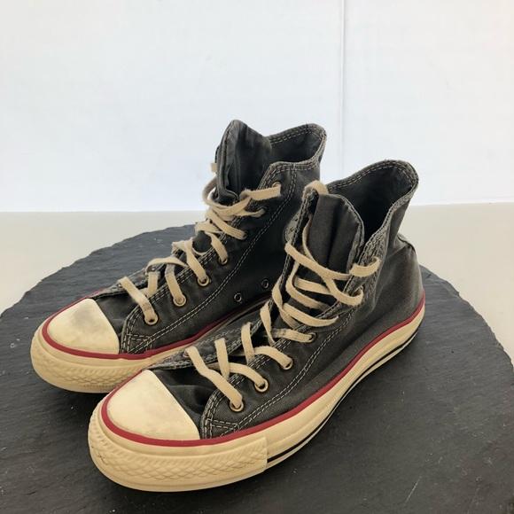 9fecd18b21d22d Converse Shoes - Converse grey   white high tops women s size 7